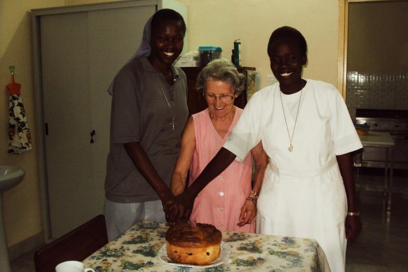 Sr. Betty, Maria e Sr. Linda
