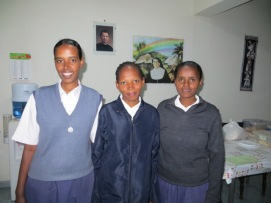Our three Postulants ready to leave for Nairobi