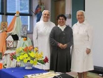 Sr. Claudia with sr. Maria Americo and Sr. Maria Fisichella