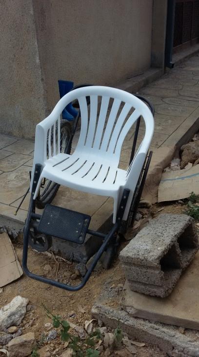 Home-made wheelchair